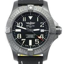 Breitling Титан Автоподзавод Черный Aрабские 45mm новые Avenger Seawolf