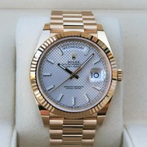 Rolex Day-Date 40 Yellow gold 40mm Silver United States of America, Florida, Tampa