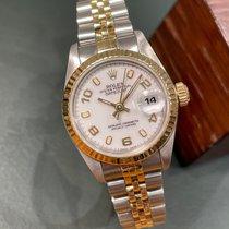 Rolex Lady-Datejust Or/Acier 26mm Blanc Arabes France, Paris