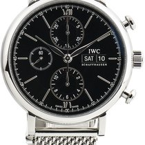 IWC Portofino Chronograph Otel 42mm Negru
