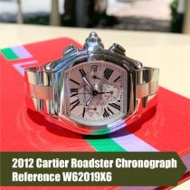 Cartier Roadster Steel Silver Roman numerals United States of America, Florida, Coral Gables