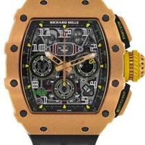 Richard Mille Růžové zlato Automatika Šedá Arabské 42mm RM 011