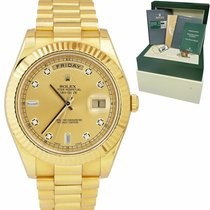 Rolex Day-Date II Yellow gold 41mm Champagne United States of America, New York, Massapequa Park