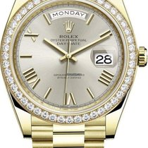 Rolex Day-Date 40 Yellow gold Silver United States of America, New York, New York