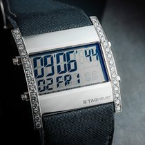 TAG Heuer Microtimer Acero 38mm Gris Sin cifras