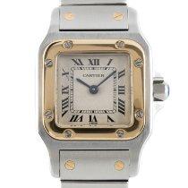 Cartier Santos Galbée Золото/Cталь 23.5mm