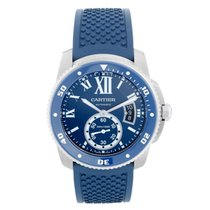 Cartier Calibre de Cartier Diver Steel 42mm Blue Roman numerals United States of America, Texas, Dallas