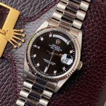 Rolex Day-Date 36 Witgoud 36mm Zwart Geen cijfers Nederland, Naarden