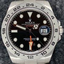 Rolex Explorer II Steel 42mm Black No numerals