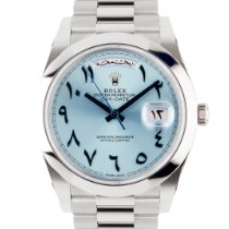 Rolex Day-Date 40 Platinum 40mm Blue Roman numerals