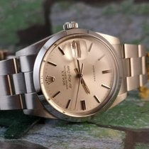 Rolex Air King Date Stål 34mm Sølv Ingen tall