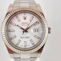 Rolex Datejust II Staal 41mm Wit Geen cijfers Nederland, Kerkrade