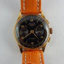 Chronographe Suisse Cie Желтое золото Механические Черный Aрабские 37 without crownmm подержанные