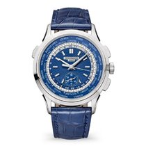 Patek Philippe World Time Chronograph White gold 40mm Blue United States of America, New York, New York
