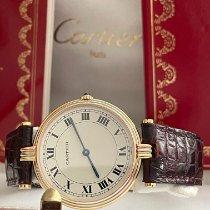 Cartier Trinity Желтое золото 30mm Белый Римские