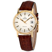 Omega Genève Yellow gold 34.5mm Silver No numerals United States of America, New York, Greenvale
