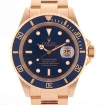 롤렉스 서브마리너 데이트 옐로우골드 42mm 파란색