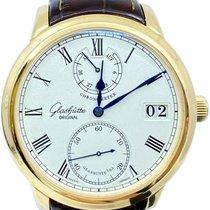 Glashütte Original Yellow gold Automatic White 42mm pre-owned Senator Chronometer