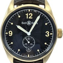 Bell & Ross Yellow gold Automatic Black Arabic numerals 38mm pre-owned Vintage