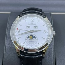 Jaeger-LeCoultre Master Calendar pre-owned 39mm White Moon phase Leather
