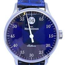 Meistersinger Salthora Steel 40mm Blue Arabic numerals