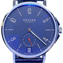 NOMOS Steel Automatic Blue Arabic numerals 40mm pre-owned Ahoi Atlantik Datum