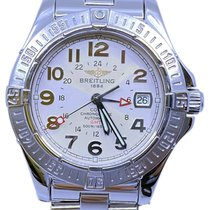 Breitling Colt GMT pre-owned 40.5mm Silver Date Steel