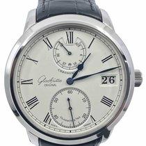 Glashütte Original Senator Chronometer pre-owned 42mm White Date Crocodile skin