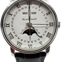 Blancpain Steel Automatic White Roman numerals 40mm pre-owned Villeret Complete Calendar