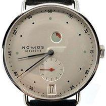 NOMOS Metro Datum Gangreserve Steel 37mm White No numerals United States of America, Florida, Naples