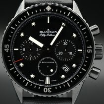 Blancpain Fifty Fathoms Bathyscaphe pre-owned 43.6mm Black Chronograph Flyback Date Buckle
