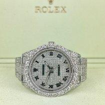Rolex Oyster Perpetual 39 Stahl 39mm Silber Keine Ziffern