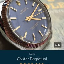 Rolex Oyster Perpetual 34 usado 34mm Prata Pele