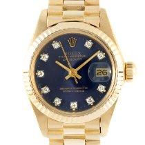 Rolex Lady-Datejust Желтое золото 26mm Синий