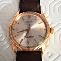 Rolex Rose gold Automatic Mother of pearl No numerals pre-owned Oyster Perpetual 34