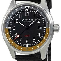 Alpina Startimer Pilot Сталь 42mm Черный Римские