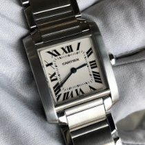 Cartier Tank Française Steel 25mm White Roman numerals United States of America, Texas, Frisco