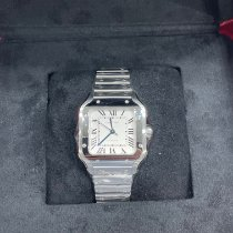 Cartier Santos (submodel) Steel 35.1mm Silver Roman numerals United States of America, New York, New York