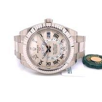 Rolex Sky-Dweller Ouro branco 42mm Branco Romanos