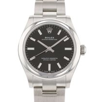 Rolex Oyster Perpetual 31 Staal 31mm Zwart Geen cijfers