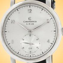 Chronoswiss Sirius Acero 40mm Plata Arábigos