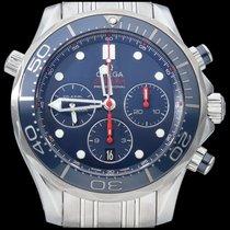 Omega Seamaster Diver 300 M Stahl 44mm Blau Keine Ziffern