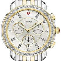 Michele Silver Quartz Mother of pearl 38mm new