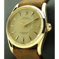 Rolex 6590 Roségoud 1956 33mm tweedehands