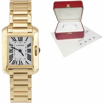 Cartier Tank Anglaise Yellow gold 30mm Silver Roman numerals United States of America, New York, Massapequa Park
