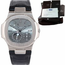 Patek Philippe White gold Automatic Grey 40mm pre-owned Nautilus