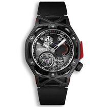 恒寶 Techframe Ferrari Tourbillon Chronograph 408.QU.0123.RX 全新 碳 45mm 手動發條