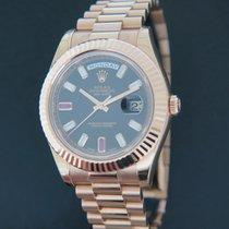 Rolex (ロレックス) デイデイト II 新品 2014 自動巻き 正規のボックスと正規の書類付属の時計 218235
