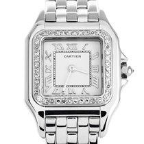 Cartier Panthère Белое золото 22mm Белый Римские