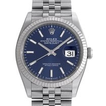 Rolex Datejust White gold 36mm Blue No numerals United States of America, California, Newport Beach, Orange County, CA